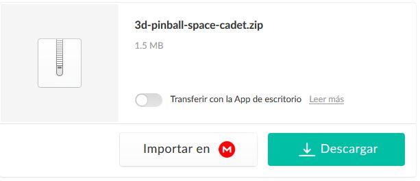 Descargar Pimball en Windows 10 en Mega