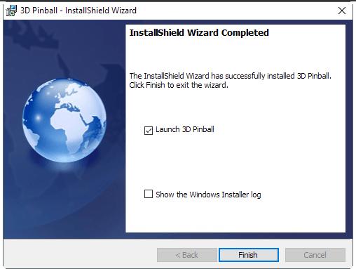 Fin de la instalación de Pinball en Windows 10 en FormCiberSeg - Formación y Ciberseguridad.