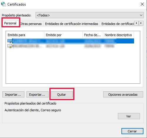 Quitar certificado de un navegador en Como instalar un certificado digital en el navegador en sistemas Windows.