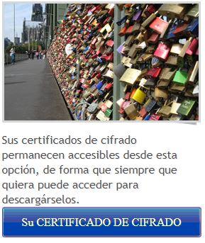 Descargar vuestro certificado de cifrado eComo firmar y cifrar correos con un certificado digital en Windowsn