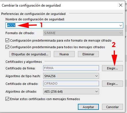 Cambiar configuración de seguridad en Outlook