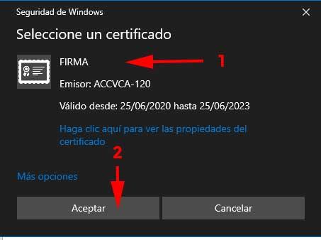 """Certificado firma en """"Como firmar y cifrar correoscon un certificado digital en Windows"""""""