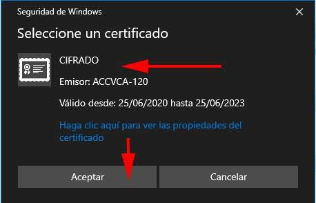 Certificado de Cifrado en Outlook en FormCiberSeg-Formación y Ciberseguridad