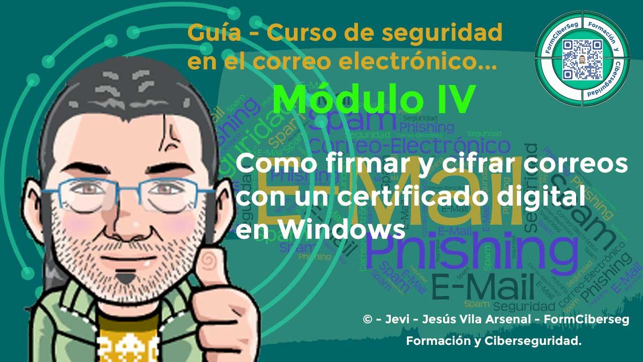 Como firmar y cifrar correos con un certificado digital en Windows en FormCiberSeg - Formación y Ciberseguridad