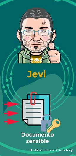 Jevi recibe el documento sensible