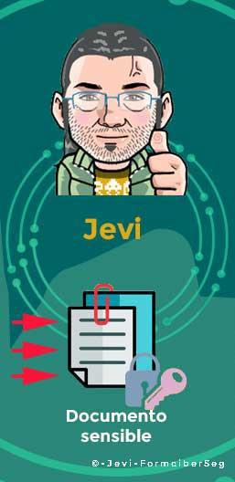 Jevi recibe documento de Vero con su clave pública
