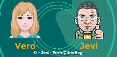Presentación de Vero y Jevi en la introducción al cifrado simétrico y asimétrico para principiantes
